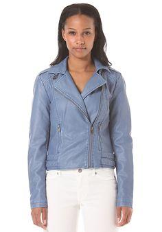 Vila Videna Biker Jacke für Damen Blau