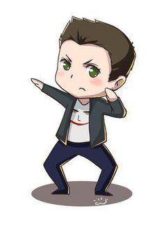 Jensen with his Joker shirt.
