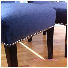 Great step by step to reupholster a dining room chair!