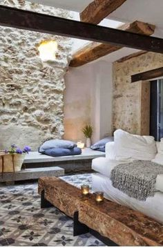 Beautiful country house in Languedoc France Interior Architecture, Interior And Exterior, Interior Design, Simple Interior, Gite Rural, Escalier Design, Stone Houses, Home And Deco, Rustic Interiors