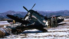 Incredibly, nobody was killed . Fighter Pilot, Fighter Jets, Aviation Accidents, F4u Corsair, Korean Air, Blue Angels, Aircraft Carrier, Light Photography, Ww2