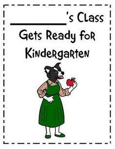 Miss Bindergarten Book.... This is how _______ got ready for kindergarten.
