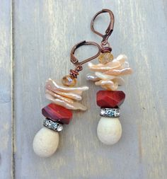 by Sheri Mallery, Glitz and Glam handmade earrings for the by SheriMalleryHandwork