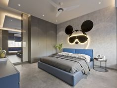 Hotel Room Design, Room Design Bedroom, Modern Bedroom Design, Kids Bedroom Designs, Kids Room Design, Luxury Kids Bedroom, Kids Room Bookshelves, Bedroom False Ceiling Design, Contemporary Home Decor