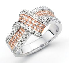 Love this bow ring in rose and white gold