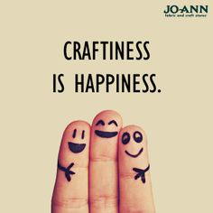 #MondayMantra: Craftiness is Happiness --- #CraftQuote