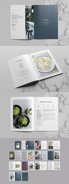 Tribeca Cookbook – – Design is art Cookbook Template, Cookbook Design, Menu Design, Branding Design, Design Design, Editorial Layout, Editorial Design, Mises En Page Design Graphique, Catalogue Layout