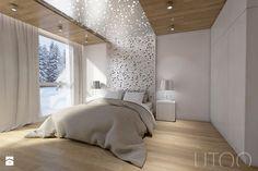 MIESZKANIE DWUPOZIOMOWE - Średnia sypialnia małżeńska, styl nowoczesny - zdjęcie od UTOO- pracownia architektury wnętrz i krajobrazu