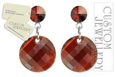 #Kolczyki z #półfabrykatów #silver 925 i kryształków #Swarovski od www.customjewellery.pl