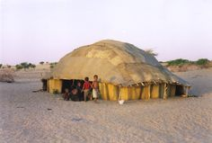 A Tuareg tent in the Sahara