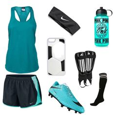 Soccer Practice⚽️ by emmanatorjc on Polyvore featuring polyvore, fashion, style, NIKE, Umbro, CellPowerCases, Victoria's Secret PINK and clothing
