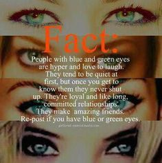 I'm part of the 2% of people with green eyes.