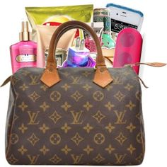 Polyvore Bomb Sets ❤ liked on Polyvore featuring bags, handbags, premade, accessories, purses, hand bags, brown handbags, man bag, brown bag and brown purse