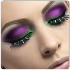 violet and green