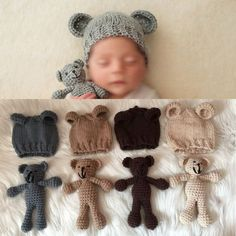 Cheap gifts science, Buy Quality shower complete directly from China gifts glitter Suppliers: Cute Set Photography Prop Photo Crochet Bear and Hat Set Handmade Newborn Photography Studio Booth Props Baby Sho