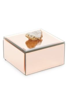 Casa Atrium, Gifts For Mom, Great Gifts, Mirror Box, Crystal Box, Pink Palette, Glass Boxes, Agate Stone, Rocks And Minerals