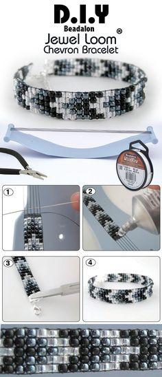 cf927b88f7b131f990fd867a9a591925.jpg (736×1712) - smukt vævet armbånd i sort-grå-hvid kan man lave det uden vævning ??