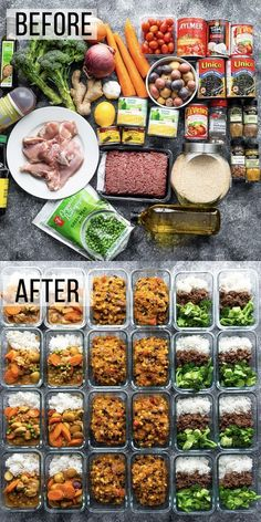 How to prep 24 freezer-friendly lunches in 2 hours + shopping list. This is the perfect way to stock up your freezer with healthy lunches, and to squeeze some variety into your meal prep routine! meals healthy 24 Freezer-Friendly Lunches in 2 hours Diet Food To Lose Weight, Clean Eating Recipes For Weight Loss, Clean Eating Snacks, Healthy Eating, Eating Healthy On A Budget For One, Weight Loss Meals, Cheap Clean Eating, Clean Eating Meal Plan, Healthy Recipes On A Budget
