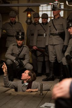 pickledelephant:  Wes Anderson on the set of The Grand Budapest Hotel (2014)