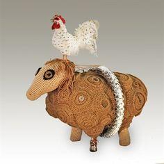 crochet sculpture by Leslie Blackmon