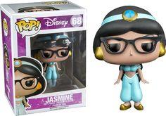 Aladdin POP! Disney Vinyl Figur Jasmin Nerd (Hipster) 10 cm  Aladdin - Hadesflamme - Merchandise - Onlineshop für alles was das (Fan) Herz begehrt!