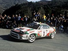 The Toyota Celica Turbo 4WD driven by Didier Auriol with Bernard Occelli to win the 1993 Monte Carlo Rally.