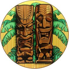 This reproduction metal sign is a big deal! It's inspired by Polyneisan tikis and will look great in any Hawaiian tiki bar or cocktail lounge. Made of durable, heavy-duty steel with riveted holes for easy hanging. Available in 28