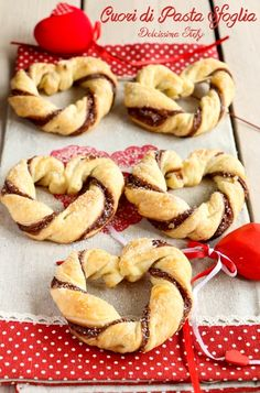 Cuori di Pasta Sfoglia alla Nutella