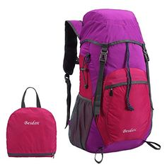 Besdox Foldable Backpack 40L Lightweight Travel Water Resistant Backpack Packable Hiking Daypack Purple >>> Learn more by visiting the image link.