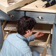 pull out drawers how to