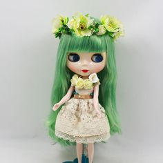 "12"" Neo Blythe doll nude Takara doll from factory  grass green hair JD411 pink S #Takara #Dolls"