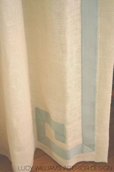 linen panels with greek key