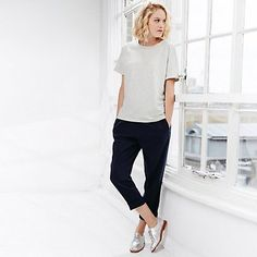 Straight down to it - grown up jeans and t.shirt