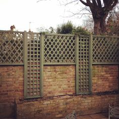 New year trellis fence design. Missing the pyramid finials