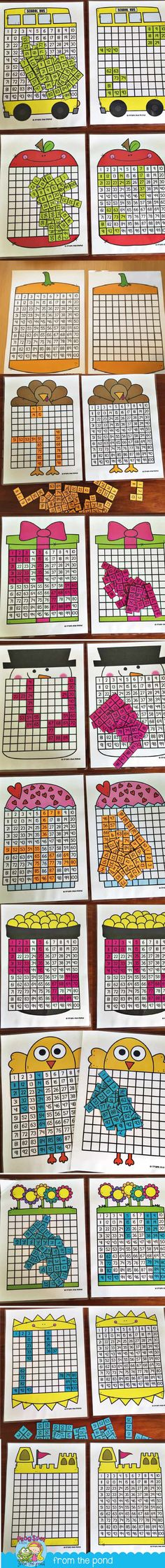 100 Chart Puzzles Year Bundle + Freebie More