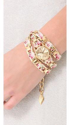 Sara Designs Floral Wrap Watch