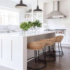 #homedecor #interiors #white Gorgeous white kitchen.