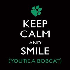 Keep calm and smile... You're a bobcat!    Hell yeah!