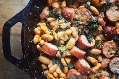 Roasted Sausage, Chard, and Cannellini Beans recipe on Food52