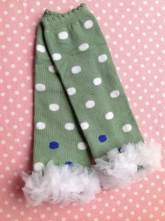 Green with White Polka Dots and a White by PrincessEllasBoutiqu, $7.50