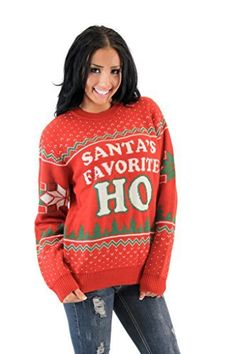 santas favorite ho red ugly christmas sweater xxxlarge be sure to check out this awesome product - Dirty Christmas Sweaters
