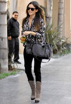 Rachel Bilson. I adore this outfit. That bag. THAT BAG.