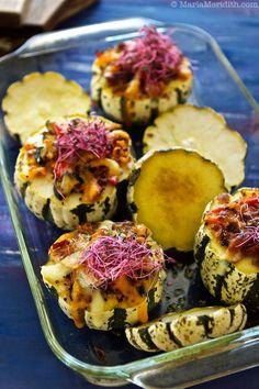 Stuffed Sweet Dumpling Squash with Bacon, Roasted Veggies and Cheese | Add eggplant?