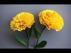 ABC TV | Come fare il fiore di carta da Crepe Paper # 2 - Easy Craft Tutorial - YouTube