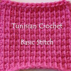 Crocheting the Day Away: Tunisian Crochet How-To… Basic Tunisian Crochet Stitch
