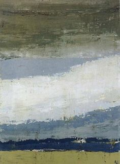 Nicolas de Stael The Sky of Figure 1952 Oil painting 100x73cm, Facebook