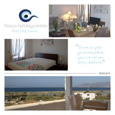 Two level house with sea view just 200m from the most beautiful beach -Agios Prokopis - in Naxos.