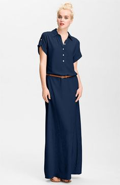FELICITY & COCO Belted Maxi Shirtdress available at #Nordstrom