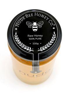Nude Bee Honey Co. - Edward Okun Label on the jar cover. Very nice.