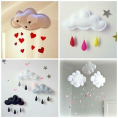 How cute are these homemade mobiles for a baby